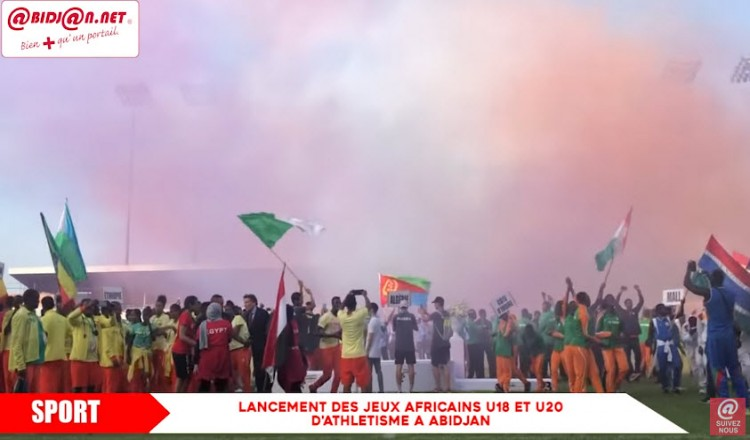 Launch of the African U18 and U20 athletics games in Abidjan